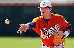 Clemson first baseman Ben Paulsen (10) prior to a game between the Charlotte 49ers and Clemson Tigers Feb. 22, 2009, at Doug Kingsmore Stadium in Clemson, S.C.
