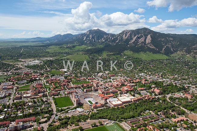 Boulder, Colorado. University of Colorado campus. May 2014