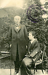 Undated - Shigenobu Okuma (1838-1922) with wife. He was a Japanese statesman and the 8th and 17th Prime Minister of Japan. He was also an early advocate of Western science and culture in Japan, and founder of Waseda University. (Photo by Kingendai Photo Library/AFLO)