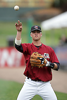 July 7 2009: Evan Button of the Yakima Bears before game against the Everett AquaSox at Everett Memorial Stadium in Everett,WA.  Photo by Larry Goren/Four Seam Images