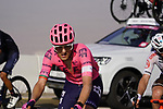 Ruben Guerreiro (POR) EF Education-Nippo and Mathias Frank (SUI) AG2R Citroën Team on the final climb of Stage 3 of the 2021 UAE Tour running 166km from Al Ain to Jebel Hafeet, Abu Dhabi, UAE. 23rd February 2021.  <br /> Picture: Eoin Clarke | Cyclefile<br /> <br /> All photos usage must carry mandatory copyright credit (© Cyclefile | Eoin Clarke)