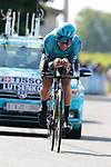 Alexey Lutsenko (Kaz) Astana-Premier Tech during Stage 20 of the 2021 Tour de France, an individual time trial running 30.8km from Libourne to Saint-Emilion, France. 17th July 2021.  <br /> Picture: Colin Flockton | Cyclefile<br /> <br /> All photos usage must carry mandatory copyright credit (© Cyclefile | Colin Flockton)