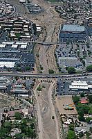 aerial photograph of Arroyo de las Calabacillas, Albuquerque, New Mexico