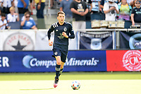 KANSAS CITY, KS - JUNE 26: Ilie Sanchez #6 Sporting KC with the ball during a game between Los Angeles FC and Sporting Kansas City at Children's Mercy Park on June 26, 2021 in Kansas City, Kansas.