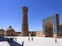 Alim-Khan-Medrese, Kalon Moschee und Minarett, Buchara, Usbekistan, Asien, UNESCO-Weltkulturerbe<br /> Alim Khan Madrasa, Kalon Mosque and minaret, Historic City of Bukhara, Uzbekistan, Asia, UNESCO Heritage Site