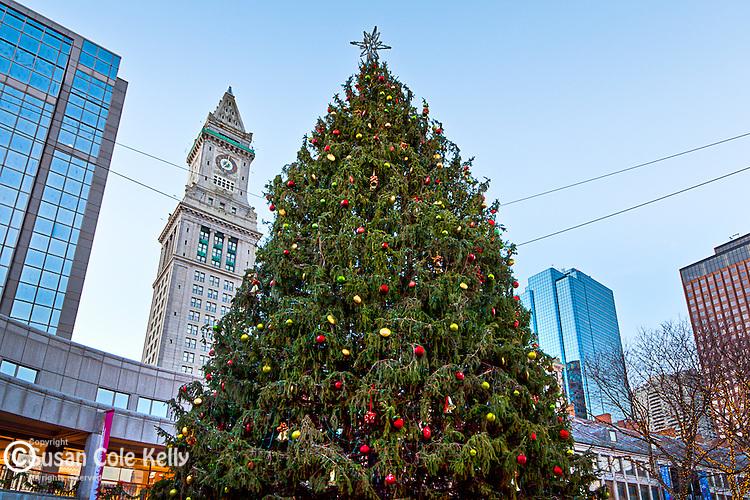 Christmas at Quincy Market, Boston, MA, USA