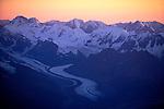 Aerial over Kahiltna Glacier and Denali, Alaska