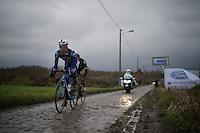 Dimitri Claeys (BEL/Wanty-Groupe Gobert) over the cobbles<br /> <br /> GP Samyn 2016