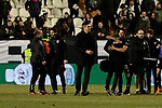 CD Leganes's coach Mauricio Pellegrino celebrates the victory during La Liga match between Rayo Vallecano and CD Leganes at Vallecas Stadium in Madrid, Spain. February 04, 2019. (ALTERPHOTOS/A. Perez Meca)