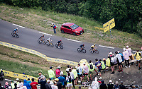 leaders group including yellow jersey / GC leader Tadej Pogacar (SVN/UAE-Emirates) up Luz Ardiden<br /> <br /> Stage 18 from Pau to Luz Ardiden (130km)<br /> 108th Tour de France 2021 (2.UWT)<br /> <br /> ©kramon