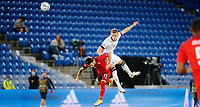 6th August 2020, Basel, Switzerland. UEFA National League football, Switzerland versus Germany;  Renato Steffen sui challenges Matthias Ginter ger for a header
