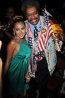 HOLLYWOOD FL - JUNE 22 : Don King and Adrienne Bailon pose during Don King's 80th birthday celebration at Hard Rock live held at the Seminole Hard Rock Hotel & Casino on June 22, 2012 in Hollywood, Florida. © mpi04/MediaPunch Inc NORTEPHOTO.COM<br />