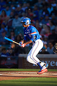 Joe Gray (10) of Hattiesburg High School in Hattiesburg, Mississippi at bat during the Under Armour All-American Game presented by Baseball Factory on July 29, 2017 at Wrigley Field in Chicago, Illinois.  (Mike Janes/Four Seam Images)
