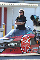 Aug 8, 2020; Clermont, Indiana, USA; NHRA top alcohol dragster driver Rachel Meyer during the Indy Nationals at Lucas Oil Raceway. Mandatory Credit: Mark J. Rebilas-USA TODAY Sports