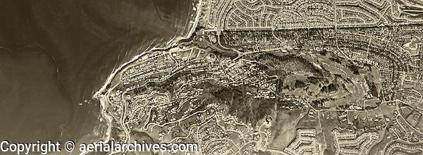 historical aerial photograph Palos Verdes Estates, California, 1963