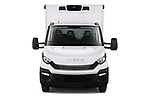 Car photography straight front view of a 2018 Iveco Daily C 2 Door Refrigerated Van Front View