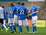 Raith Rovers v St Johnstone...12.07.14  Pre-Season Friendly<br /> David Wotherspoon celebrates his goal<br /> Picture by Graeme Hart.<br /> Copyright Perthshire Picture Agency<br /> Tel: 01738 623350  Mobile: 07990 594431