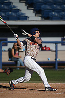 Matt Gelalich (13) of the Pepperdine Waves bats against the Fresno State Bulldogs at Eddy D. Field Stadium on March 7, 2017 in Los Angeles, California. Pepperdine defeated Fresno State, 8-7. (Larry Goren/Four Seam Images)