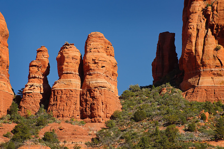 The Triplets, Long Canyon, near Sedona, Arizona.  Available in sizes up to 30 x 45 inches.