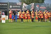 Eendracht Wervik - SC Wielsbeke :<br /> Eerbetoon voor de wedstrijd aan de overleden ere voorzitter Andre Ollivier<br /> <br /> Foto VDB / Bart Vandenbroucke