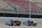 NASCAR Camping World Truck Series<br /> LTI Printing 200<br /> Michigan International Speedway, Brooklyn, MI USA<br /> Saturday 12 August 2017<br /> Kyle Busch, Textron Off Road Toyota Tundra Chase Briscoe, Cooper Standard Ford F150<br /> World Copyright: Matthew T. Thacker<br /> LAT Images