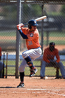 Houston Astros Kristian Trompiz (31) during a minor league spring training game against the Atlanta Braves on March 29, 2015 at the Osceola County Stadium Complex in Kissimmee, Florida.  (Mike Janes/Four Seam Images)