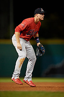 Peoria Chiefs third baseman Nolan Gorman (4) during a game against the Bowling Green Hot Rods on September 15, 2018 at Bowling Green Ballpark in Bowling Green, Kentucky.  Bowling Green defeated Peoria 6-1.  (Mike Janes/Four Seam Images)