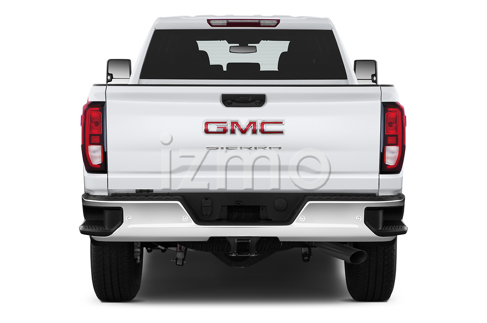Straight rear view of 2020 GMC Sierra-2500HD - 4 Door Pick-up Rear View  stock images