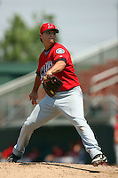 July 16 2008: Ricky Orta of the High Desert Mavericks during game against the Rancho Cucamonga Quakes at The Epicenter in Rancho Cucamonga,CA.  Photo by Larry Goren/Four Seam Images