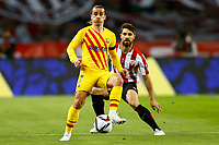 17th April 2021; Olmpico de La Cartuja stadium, Seville, Spain; Copa del Rey Football final, Athletic Bilbao versus FC Barcelona;  Antoine Griezmann of FC Barcelona and Yeray lvarez of Athletic Club