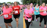 About 3500 runners and walkers participated in the 32nd annual Charlottesville Women's Four Miler race Saturday in Charlottesville, VA. Photo/The Daily Progress/Andrew Shurtleff
