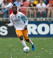 18 July 2009: Houston Dynamo forward Kei Kamara #10 in action during a game between the Toronto FC and Houston Dynamo..The game ended in a 1-1 draw..