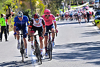 14th March 2021, Levens, France;  DECLERCQ Tim (BEL) of Deceuninck - Quick Step and BYSTROM Sven Erik (NOR) of UAE-Team Emirates during stage 8 of the 79th edition of the 2021 Paris - Nice cycling race, a stage of 92,7 kms between Plan-du-Var and Levens on March 14, 2021 in Levens, France