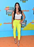 SANTA MONICA, USA. July 11, 2019: Nikki Bella at Nickelodeon's Kids' Choice Sports Awards 2019 at Barker Hangar.<br /> Picture: Paul Smith/Featureflash