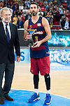 FC Barcelona Lassa player Juan Carlos Navarro with the 2nd position award during the final of Supercopa of Liga Endesa Madrid. September 24, Spain. 2016. (ALTERPHOTOS/BorjaB.Hojas)