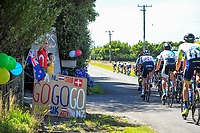 Fans cheer on the riders during stage five of the 2018 NZ Cycle Classic UCI Oceania Tour (Masterton criterium) in Masterton, New Zealand on Friday, 21 January 2018. Photo: Dave Lintott / lintottphoto.co.nz