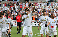 Barclays Premier League, Swansea City (white) V West Ham United, 05/08/12, Liberty Stadium Swansea. <br /> Pictured: The Swans Danny Graham<br /> Picture by: Ben Wyeth / Athena Pictures<br /> Athena Picture Agency<br /> info@athena-pictures.com