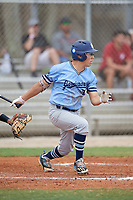 Devan Ornelas (2) during the WWBA World Championship at the Roger Dean Complex on October 12, 2019 in Jupiter, Florida.  Devan Ornelas attends Notre Dame High School in Chatsworth, CA and is committed to TCU.  (Mike Janes/Four Seam Images)