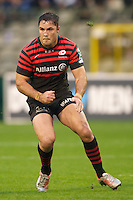 20121020 Copyright onEdition 2012©.Free for editorial use image, please credit: onEdition..Brad Barritt of Saracens during the Heineken Cup Round 2 match between Saracens and Racing Metro 92 at the King Baudouin Stadium, Brussels on Saturday 20th October 2012 (Photo by Rob Munro)..For press contacts contact: Sam Feasey at brandRapport on M: +44 (0)7717 757114 E: SFeasey@brand-rapport.com..If you require a higher resolution image or you have any other onEdition photographic enquiries, please contact onEdition on 0845 900 2 900 or email info@onEdition.com.This image is copyright the onEdition 2012©..This image has been supplied by onEdition and must be credited onEdition. The author is asserting his full Moral rights in relation to the publication of this image. Rights for onward transmission of any image or file is not granted or implied. Changing or deleting Copyright information is illegal as specified in the Copyright, Design and Patents Act 1988. If you are in any way unsure of your right to publish this image please contact onEdition on 0845 900 2 900 or email info@onEdition.com