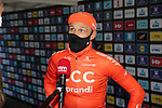 Matteo Trentin (ITA) CCC Team at sign on before the start of the 82nd edition of Gent-Wevelgem 2020 running 232km from Ypres to Wevelgem, Belgium. 11th October 2020.  <br /> Picture: Colin Flockton   Cyclefile<br /> <br /> All photos usage must carry mandatory copyright credit (© Cyclefile   Colin Flockton)