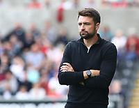 25th September 2021; Swansea.com Stadium, Swansea, Wales; EFL Championship football, Swansea versus Huddersfield; Russell Martin, Manager of Swansea City
