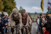 Wout van Aert (BEL/Jumbo Visma) chasing on the Mons-en-Pévèle cobble section<br /> <br /> 118th Paris-Roubaix 2021 (1.UWT)<br /> One day race from Compiègne to Roubaix (FRA) (257.7km)<br /> <br /> ©kramon