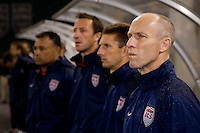 Bob Bradley. The USMNT tied Costa Rica, 2-2, during the FIFA World Cup Qualifier at  RFK Stadium, in Washington, DC.   With the result, the USMNT qualified for the 2010 FIFA World Cup Finals in South Africa.