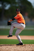 Baltimore Orioles pitcher Josh Walker (57) during a minor league Spring Training game against the Minnesota Twins on March 16, 2016 at CenturyLink Sports Complex in Fort Myers, Florida.  (Mike Janes/Four Seam Images)