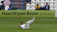 Mitch Claydon of Sussex sees the funny side as he slips on the grass after throwing the ball back to the wicketkeeper during Sussex CCC vs Glamorgan CCC, LV Insurance County Championship Group 3 Cricket at The 1st Central County Ground on 5th July 2021