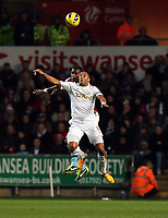 Tuesday 01 January 2013<br /> Pictured: Ashley Williams.<br /> Re: Barclays Premier League, Swansea City FC v Aston Villa at the Liberty Stadium, south Wales.