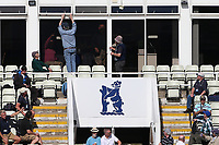 Windows are closed as reflections from the sun distract the batsmen during Warwickshire CCC vs Essex CCC, Specsavers County Championship Division 1 Cricket at Edgbaston Stadium on 11th September 2019
