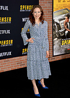 "LOS ANGELES, CA: 27, 2020: Mina Sundwall  at the world premiere of ""Spenser Confidential"" at the Regency Village Theatre.<br /> Picture: Paul Smith/Featureflash"