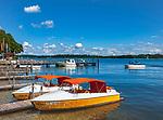 Deutschland, Bayern, Chiemgau, Prien am Chiemsee: Bootsvermietung | Germany, Bavaria, Chiemgau, Prien am Chiemsee: boat rental at lake Chiemsee