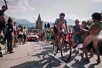 """Nils Politt (DEU/Katusha-Alpecin) coming through """"Dutch Corner"""" (#7) on Alpe d'Huez<br /> <br /> Stage 12: Bourg-Saint-Maurice / Les Arcs > Alpe d'Huez (175km)<br /> <br /> 105th Tour de France 2018<br /> ©kramon"""